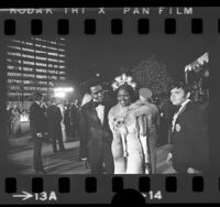Cicely Tyson and Arthur Mitchell arriving at the 45th annual Academy Awards in Los Angeles, Calif., 1973