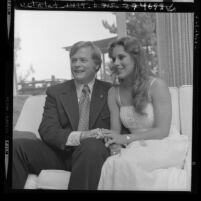 Los Angeles City Councilman Arthur K. Snyder and wife Michele (Maggie) Noval, Calif., 1973