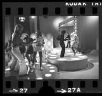 American Bandstand television program, Dick Clark in background, Los Angeles, Calif., 1973