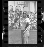 Los Angeles Rams coach Chuck Knox on sideline during game in Los Angeles, Calif., 1973