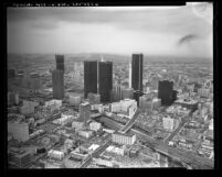 Cityscape of downtown Los Angeles, Calif., 1973