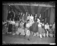Youths at dance hosted by Bellflower Lodge 583, Loyal Order of Moose, Calif., circa 1950