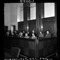 Alleged Smith Act violators in court, Los Angeles, Calif., 1951