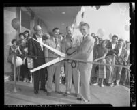 Ribbon cutting for opening of Sears, Roebuck & Co. store in San Fernando Valley, Calif., 1951