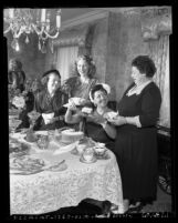 Tea party at Jewish Home for the Aging in Los Angeles, Calif., 1953