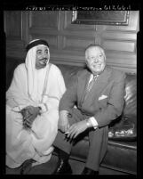 Ezzat Jafaar, Cabinet of Kuwait, and Sam Mosher of Signal Oil & Gas, Los Angeles, Calif., 1953