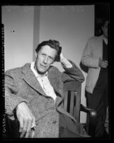 Actor John Carradine, 1/2 length portrait, 1953