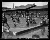 Bathers at the Los Angeles Municipal Swimming Pool, circa 1920