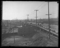 Construction on nearly completed Ninth Street Bridge-viaduct, circa 1925