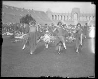 Women dancing in May Day festival at Los Angeles Coliseum