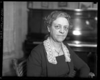 Portrait of author and political activist Margaret Hill McCarter, circa 1935