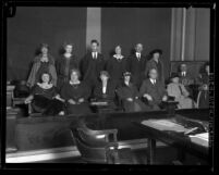 Group portrait of jury for boxer Kid McCoy's murder trial