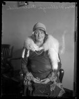 3/4 length portrait of Walburga Oesterreich, circa 1930