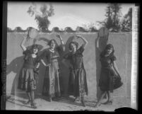 Four actresses in costume for the Mission Play,  San Gabriel, Calif. circa 1928