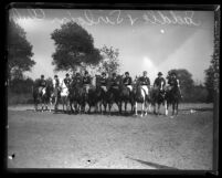 Members of the Saddle and Sirloin Club on their horses, circa 1929