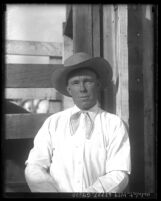 Portrait of California cowboy Johnny Schneider, circa 1931