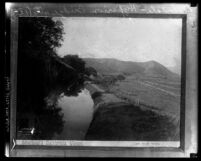 """Copy of photograph from """"Shaffner's California Views"""" of Glendale-Hyperion bridge site, Atwater Village (Los Angeles), 1886"""