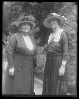 Kate R. Lobingier and Katherine G. Smith members of the Friday Morning Club in Los Angeles, Calif., 1921