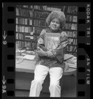 Mayme A. Clayton, portrait, 1973