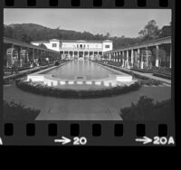Courtyard of the Getty Villa in Pacific Palisades, Los Angeles, 1974