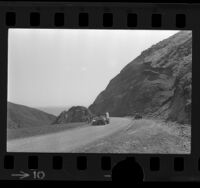 Los Angeles County jail inmates working on Kanan Dume Road in Zuma Canyon, Calif., 1974