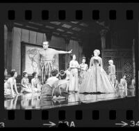 "Ricardo Montalban and Sally Ann Howes in Civic Light Opera production of ""The King and I"" in Los Angeles, Calif., 1974"