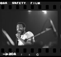 Marvin Gaye onstage at the Inglewood Forum, Calif., 1974