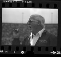 John McKay, University of Southern California Football coach, 1974