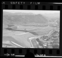 Grading work for the Glendale Freeway at the Ventura Freeway interchange, Glendale, 1974