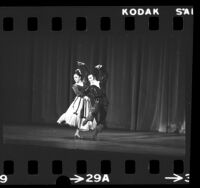 Jose Greco and Nana Lorca dancing his farewell performance at Pasadena Civic Auditorium, Calif., 1975