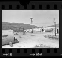 Cambodian refugees living in Quonset huts at Camp Pendleton, Calif., 1975