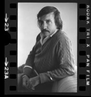 Playwright Edward Albee, portrait, 1975