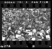 Zubin Mehta conducting Los Angeles Philharmonic at Peninsula Music Fair in Palos Verdes, Calif., 1975