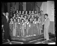 Korean American children's chorus in Los Angeles, Calif., circa 1954