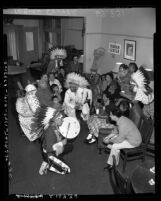 Gathering at Los Angeles Indian Center at 2920 Beverly Blvd., Los Angeles, Calif., 1954