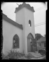 Exterior of Emmanuel Methodist Church (aka Little Church of the Eastside) in Los Angeles, Calif., 1954