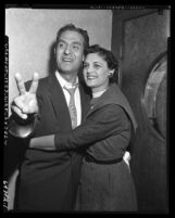 Edward R. Roybal and wife Lucille on election night in Los Angeles, Calif., 1954