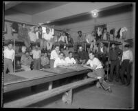 23 male inmates in the Lincoln Heights Jail, Los Angeles, circa 1925