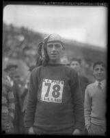 "William Rush in C. C. Pyle's Route 66 cross country footrace called the ""Bunion Derby,"" 1928"