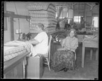 Two women sewing at California State Workshop for the Blind, circa 1930