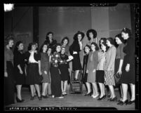 Group of Jewish women selected to be contestants in 2nd Annual California Queen Esther Ball, 1940