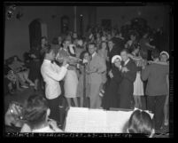 UCLA students dancing at Ball Night on the eve of graduation, Los Angeles, 1940