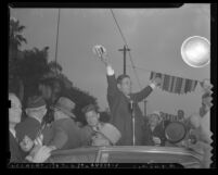 United States presidential candidate Wendell Lewis Willkie during 1940 campaign in Los Angeles, Calif.