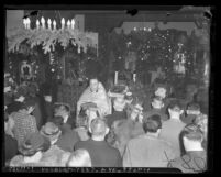Father Gregory Prosor conducting 1940 Christmas service at St. Mary Russian Orthodox Church in Los Angeles, Calif.