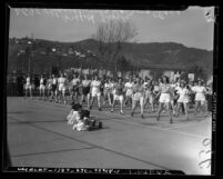 Housewives' dancing class at Griffith Park Los Angeles, Calif. in 1941