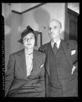 Portrait of artist and activist Rockwell Kent with his first wife Frances Lee Kent, circa 1937