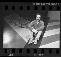 Jose Luis Valenzuela, seated portrait, 1987