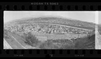 Wide-angle view of Elysian Valley along Golden State Freeway, Calif., 1987