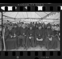 Clergymen at Armenian Genocide Day of Remembrance event in Montebello, Calif., 1987