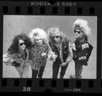 Los Angeles based music group, Poison, 1987